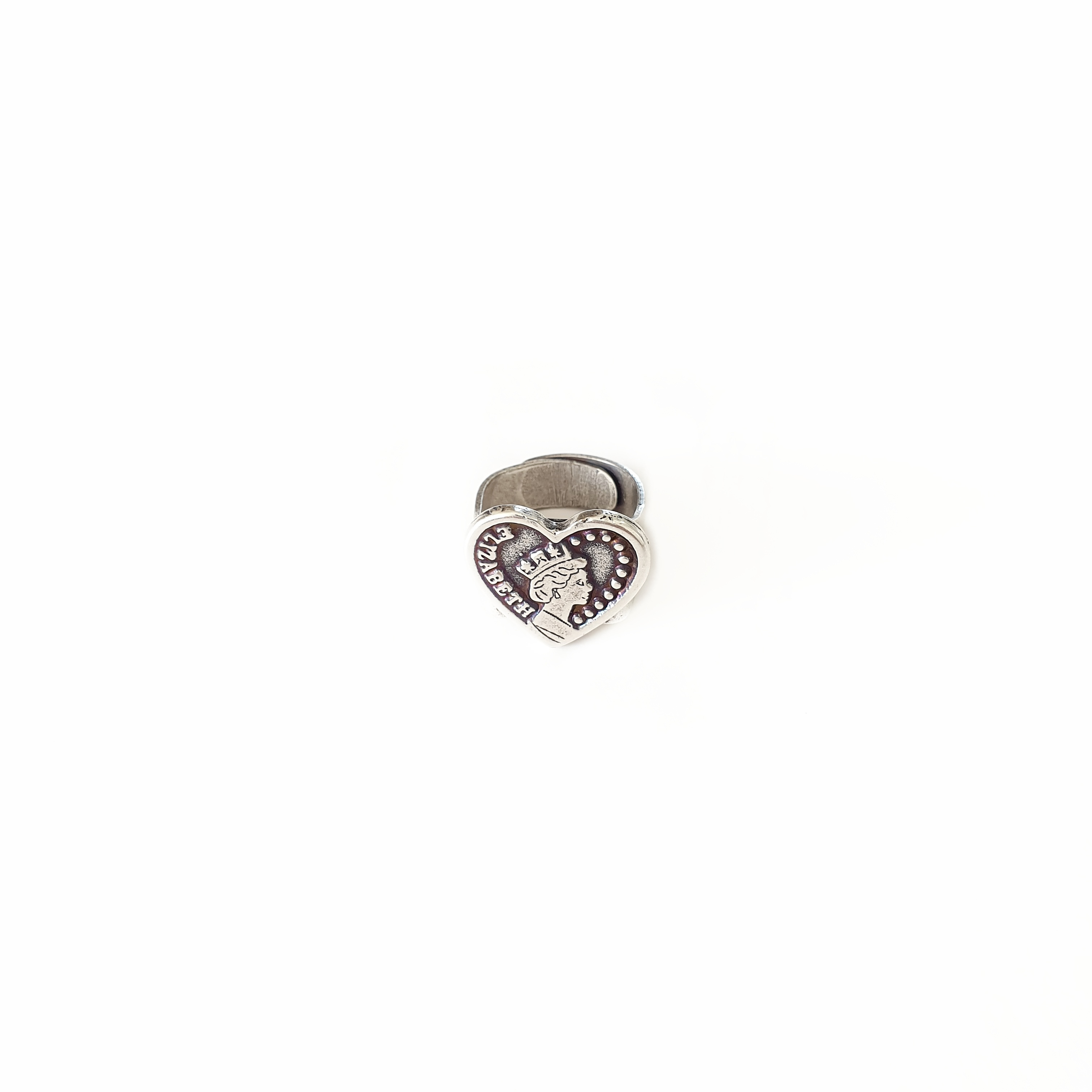טבעת ליזה לב כסף